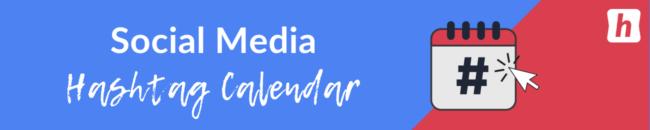 social media hashtag calendar