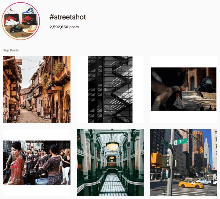 hashtags photographie