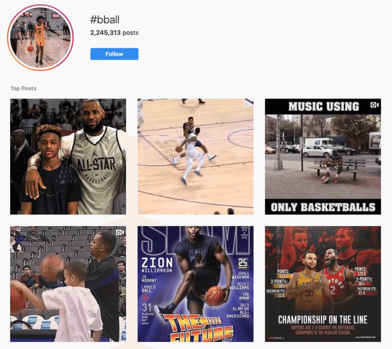 #Bball Hashtag Capture d'écran
