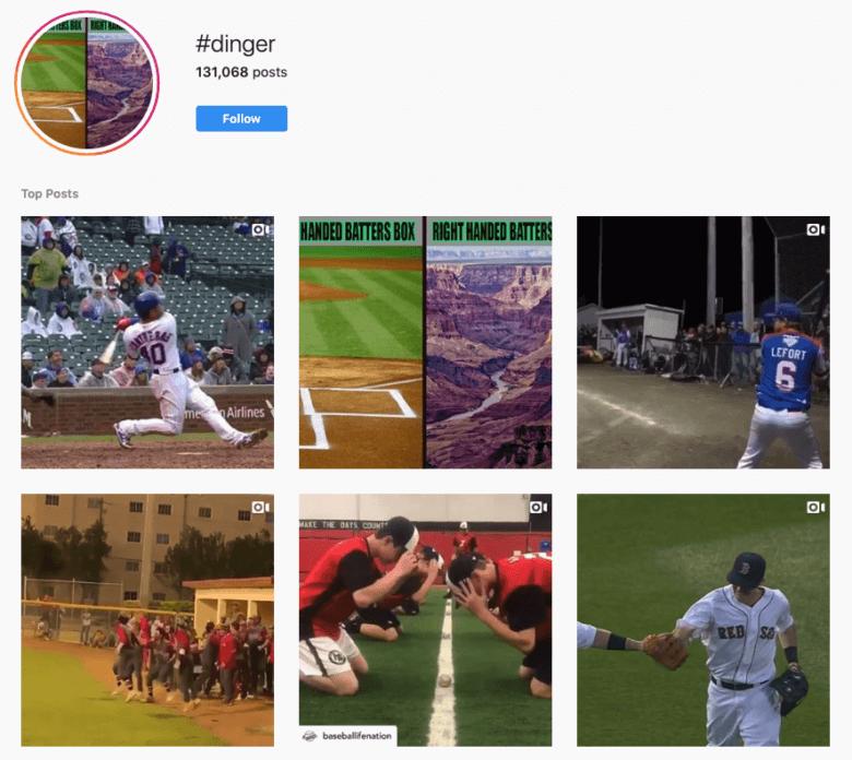 #Dinger Hashtag Capture d'écran