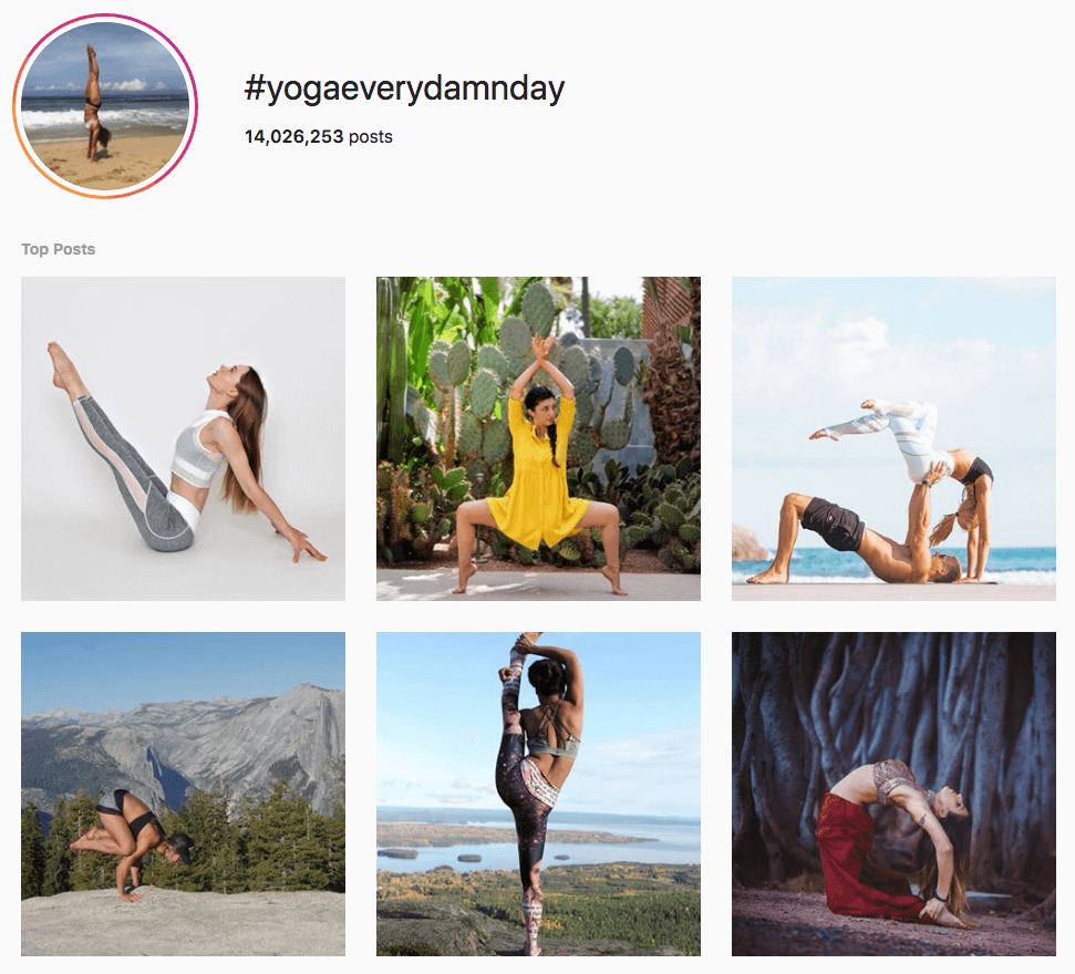 fitness hashtags
