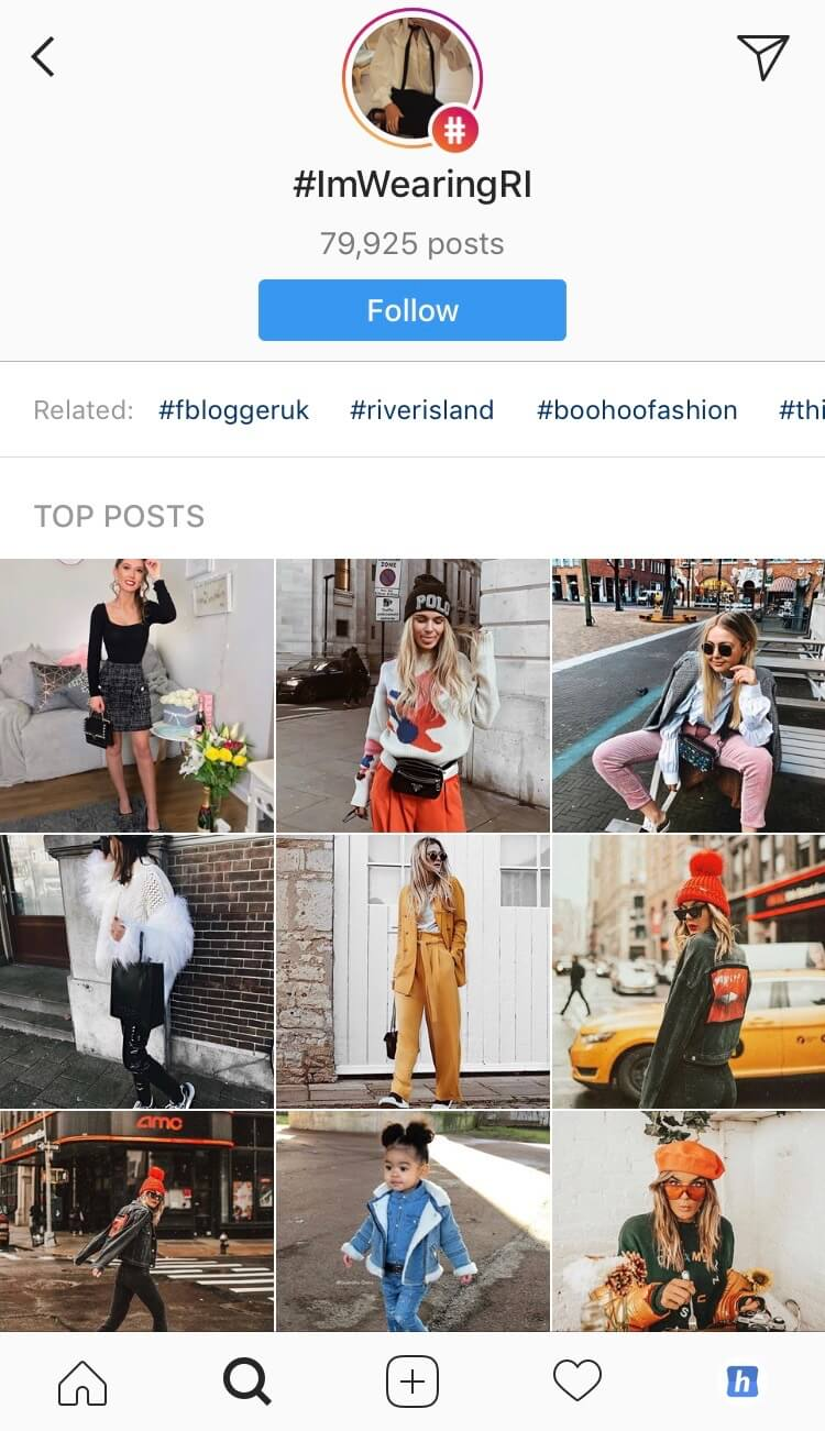 User generated Instagram content