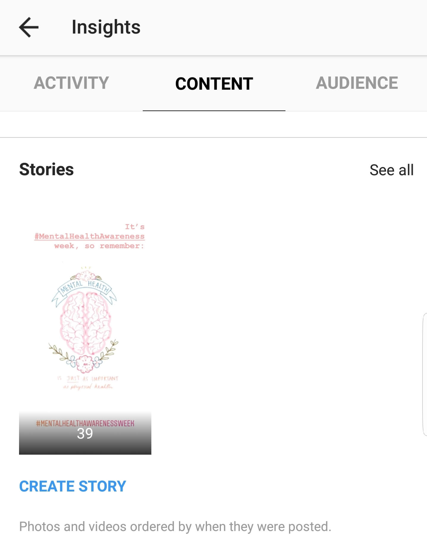 Instagram Insights: Content