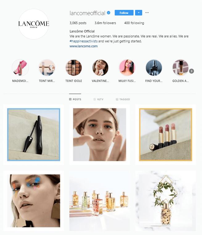 lancome instagram