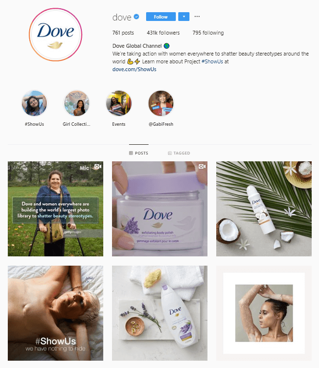 dove instagram