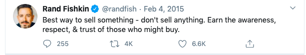 Rand Fishkin tweet