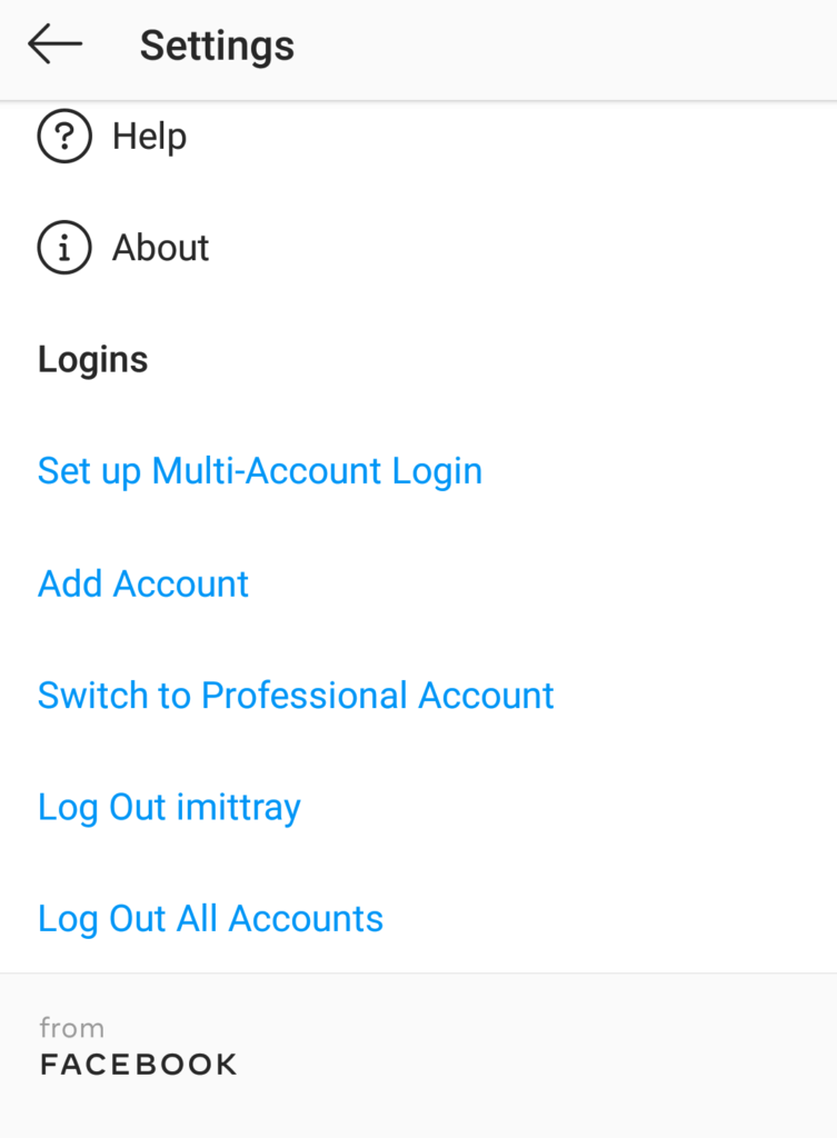 switch to a professional account