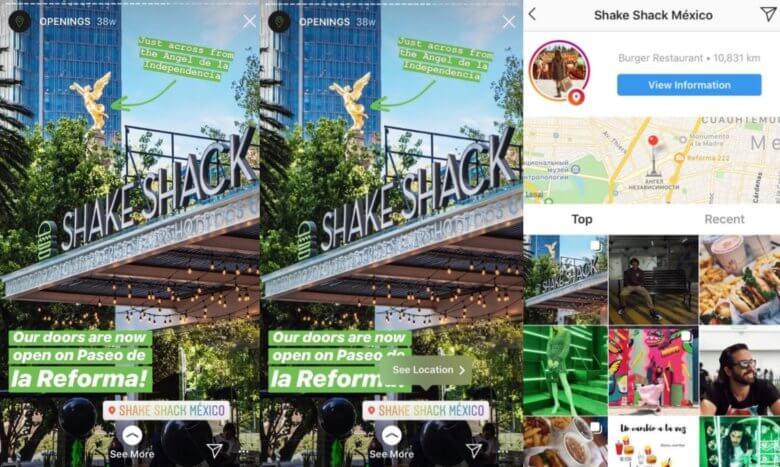Shake Shack Geolocation Tags