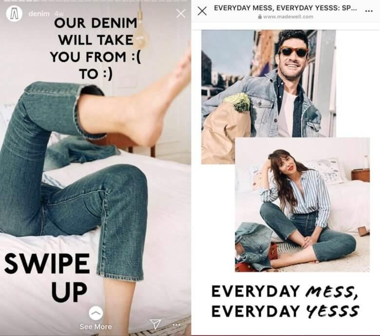 Denim Swipe Up Link