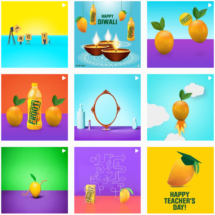 An example of Instagram account with unique visuals that make them stand out.