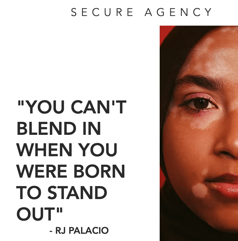 """""""You can't blend in when you were born to stand out"""" - RJ Palacio"""
